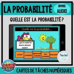 Cartes BOOM: Quelle est la probabilité? avec audio