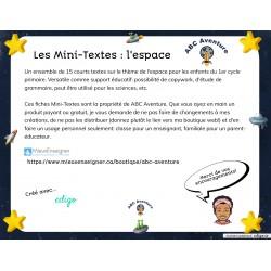Les Mini-Textes ESPACE