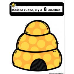 dénombrement abeilles 1 à 20