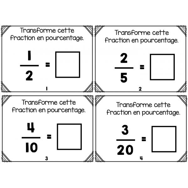 CàT fractions à pourcentage