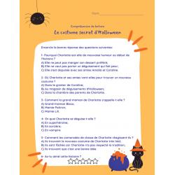 Comp. de lecture - Le costume secret d'Halloween