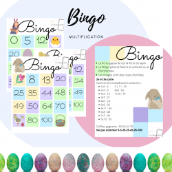 Bingo - pâques (multiplications)