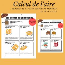 Les boites de chocolats (aire)