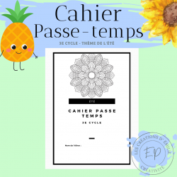 Cahier Passe-temps - 3e cycle