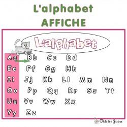 L'alphabet: affiche