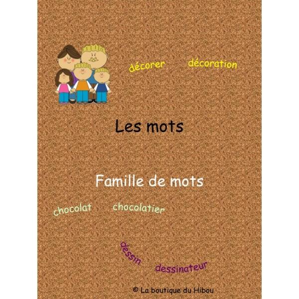 Famille de mots