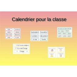 Calendrier pour la classe