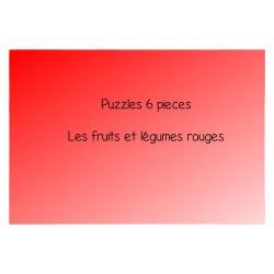 Les fruits et légumes rouges - Puzzles