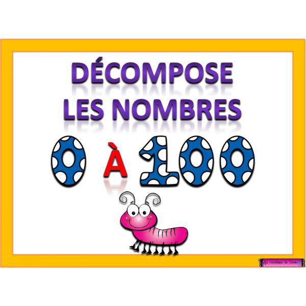 DÉCOMPOSITION NOMBRES 0 À 100