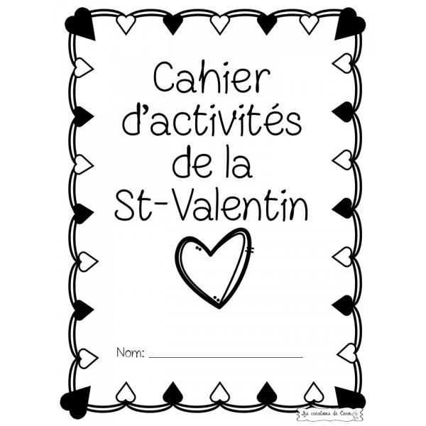 CAHIER ACTIVITÉS ST-VALENTIN