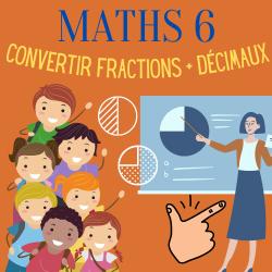 MATHS 6 ↬ ENSEIGNER LES FRACTIONS + DÉCIMAUX