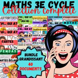 BUNDLE 3e CYCLE: MATHS - COLLECTION COMPLÈTE!