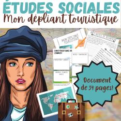 ÉTUDES SOCIALES 3e CYCLE: BROCHURE TOURISTIQUE