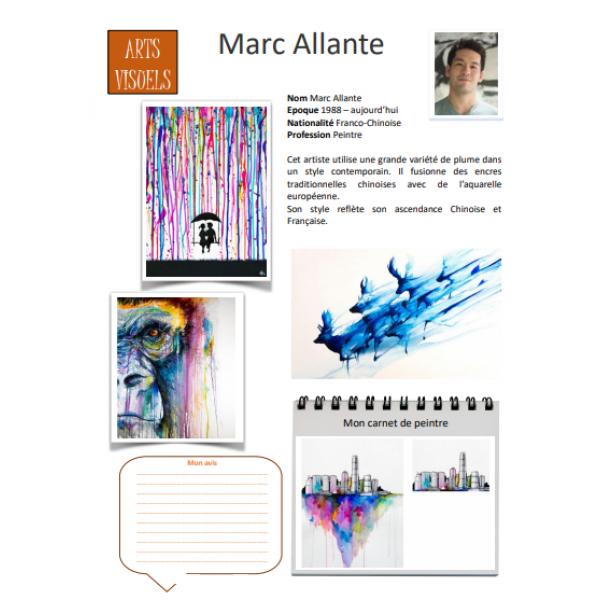 Fiche artiste Marc Allante