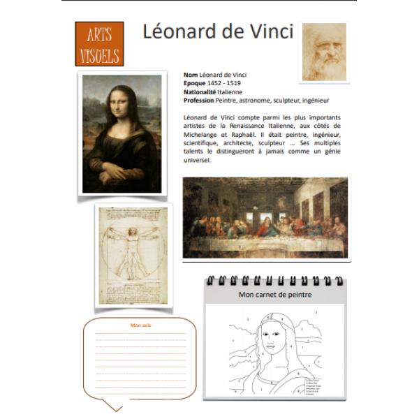 Fiche artiste Leonard de Vinci