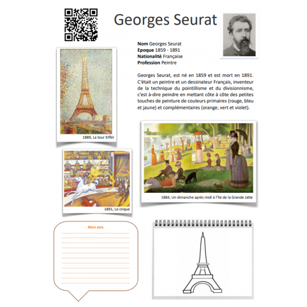 Fiche artiste Georges Seurat