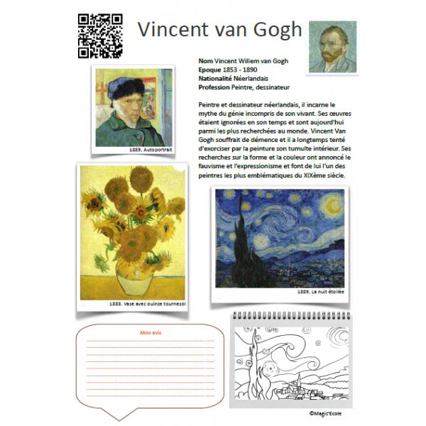 Fiche artiste Vincent van Gogh