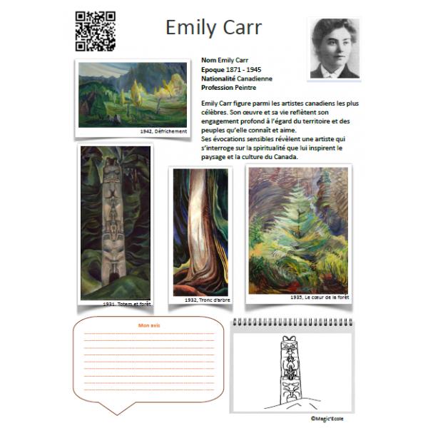 Fiche artiste Emily Carr