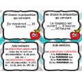 Cartes à tâches : les prépositions