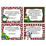 Cartes à tâches- inférences Noël (devinettes)