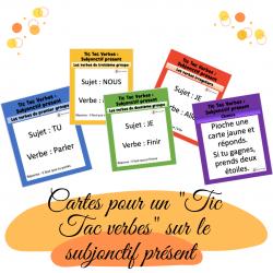Cartes tic tac verbes subjonctif présent