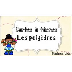 """Cartes à tâches """"Les polyèdres"""""""