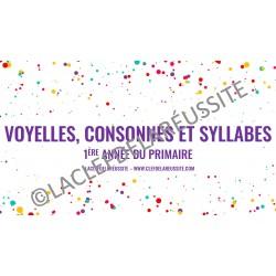 Voyelles, consonnes et syllabes - Cartes à tâches