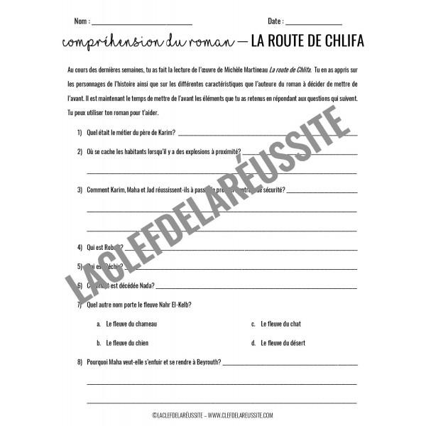 La route de Chlifa - CompréHension de lecture