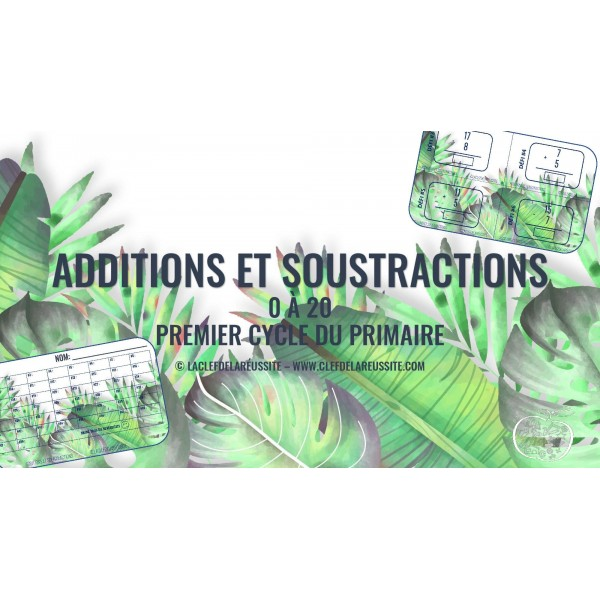 Additions et Soustractions - Cartes à tâche