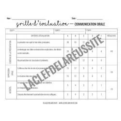 Communication orale - Grille d'évaluation