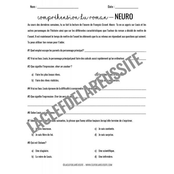 Neuro - Compréhension de lecture