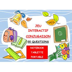CONJUGAISON PRÉSENT DE L'IND. (Jeu interactif)