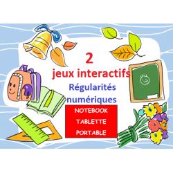RÉGULARITÉ DES NOMBRES (2 jeux interactifs)