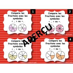 comparer des fractions (14 cartes à tâche)