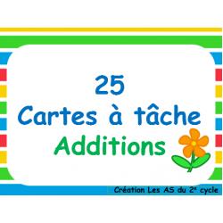 additions (25 cartes à tâche)