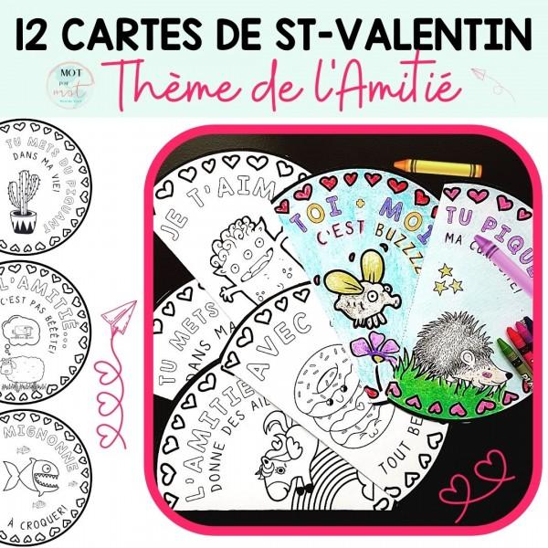 12 cartes à imprimer Saint-Valentin / Amitié