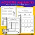 Livret d'activités étude de mots / dictée
