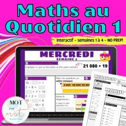 Maths au Quotidien - Révision - Semaines 1 à 4