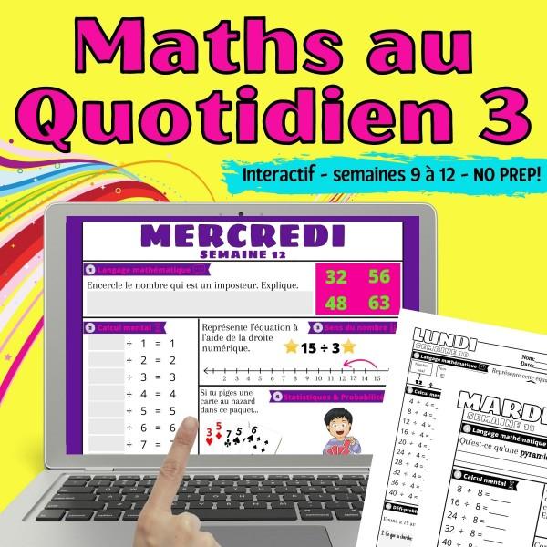 Maths au Quotidien - Révision - Semaines 9 à 12