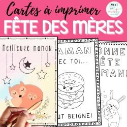 Cartes de la fête des mères / coloriage
