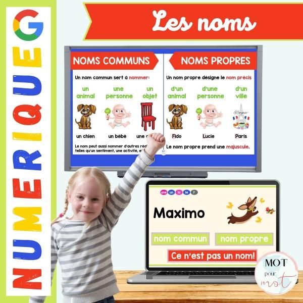 Jeu  / pratique noms communs et propres numérique