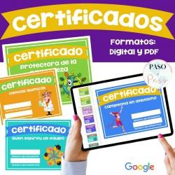 Certificados fin de año - Certificats Espagnol