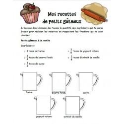 Fractions : Mes recettes de petits gâteaux