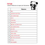 Cartes à tâches : La reprise de l'information