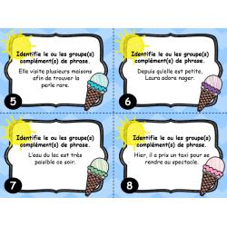 Cartes à tâches : Le groupe complément de phrase