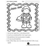 Lecture à colorier : Super-héros