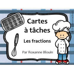 Cartes à tâches : Les fractions