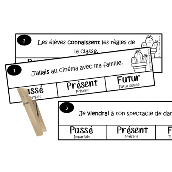 Les verbes conjugués : Passé / présent / futur