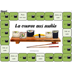 La course aux sushis : Accord de l'adjectif