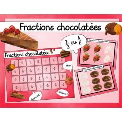 Fractions chocolatées